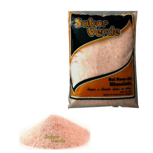 Sal Rosa do Himalaia Fino - 10 KG- Sabor Verde