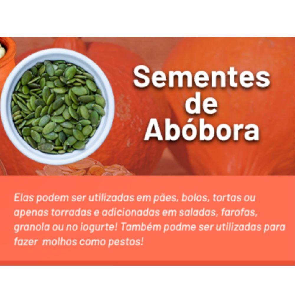 Semente de Abóbora crua sem casca (muida)  Pacote de 1 Kg Sabor Verde