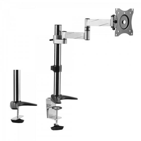 Suporte Articulado P/ Monitor de 13 a 27 POL. SBRM712 Prata Brasforma
