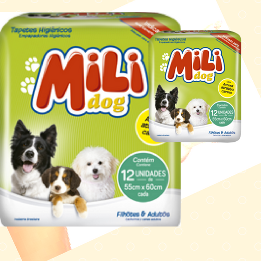 Tapete Higienico- Mili Dog - Caes- 36 Tapetes