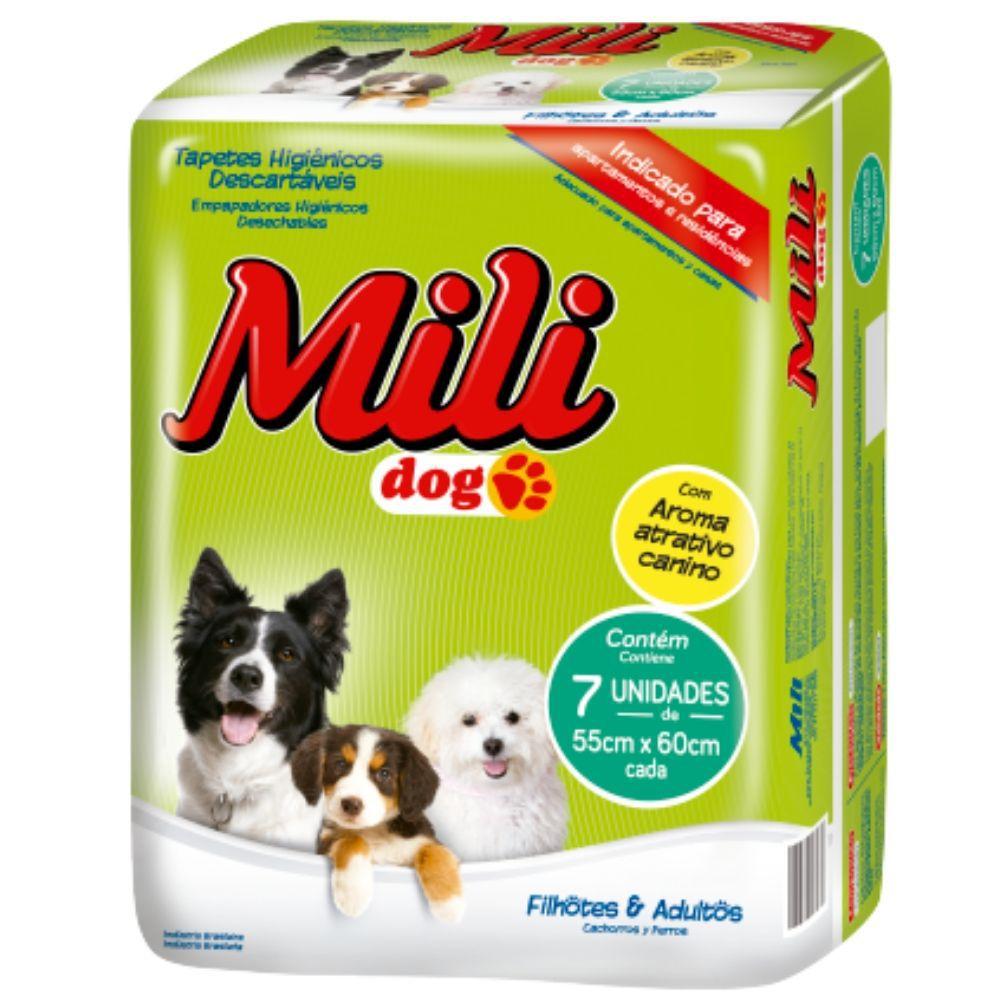 Tapete Higiênico Pet   Mili DOG   3 Pacotes com 7 (total:  21 tapetes)