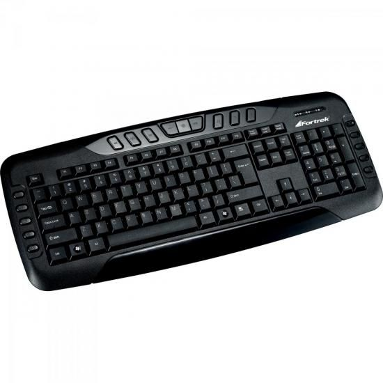 Teclado Multimidia USB ABNT2 MK-602BK Preto Fortrek