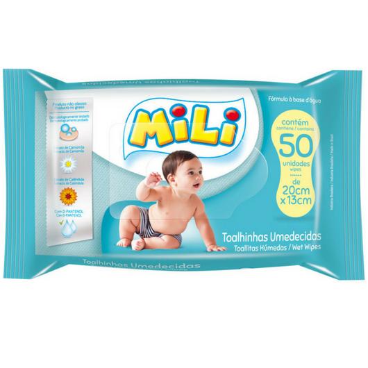 Toalha Umedecida Infantil- 12  Pacotes com 50 Unidades  cada (total: 600)