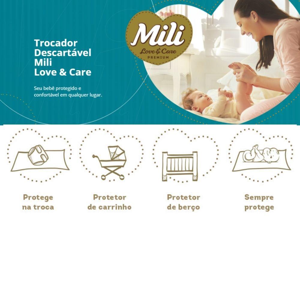 Kit Trocador Descartável Mili- 3 Pacotes c/ 5     (total:15 lençóis) - (lençol absorvente)