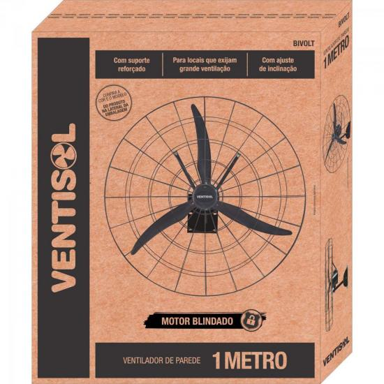 Ventilador de Parede 1M Bivolt 1 Metro Preto Ventisol