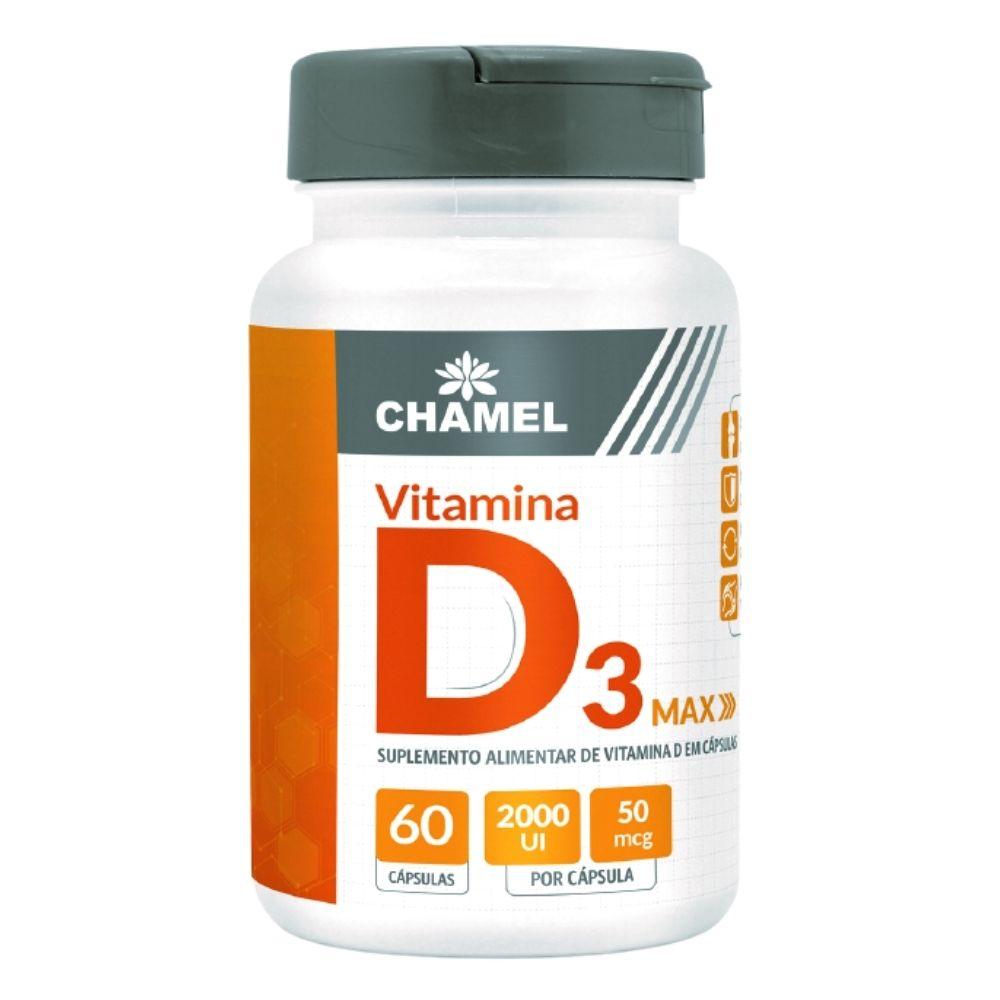 Vitamina D3 2.000 UI    60 cápsulas  Chamel