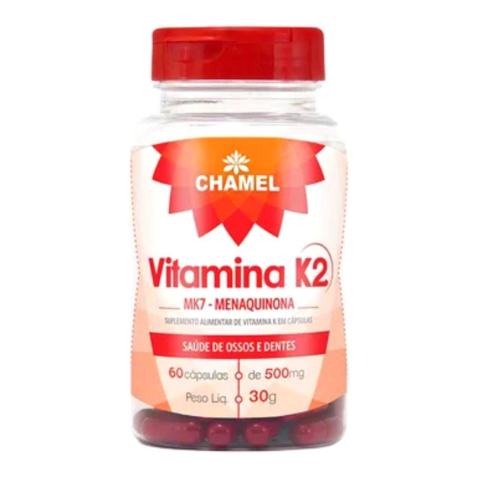 Vitamina K2 MK7 Menaquinona  60 cápsulas de 500 mg   Chamel