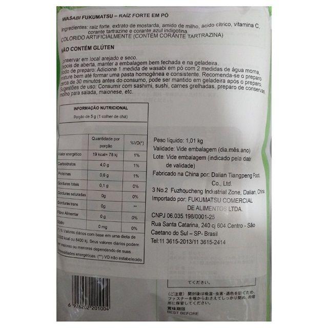 Wasabi em Pó-3 Pacotes c/1Kg( Total= 3Kg)