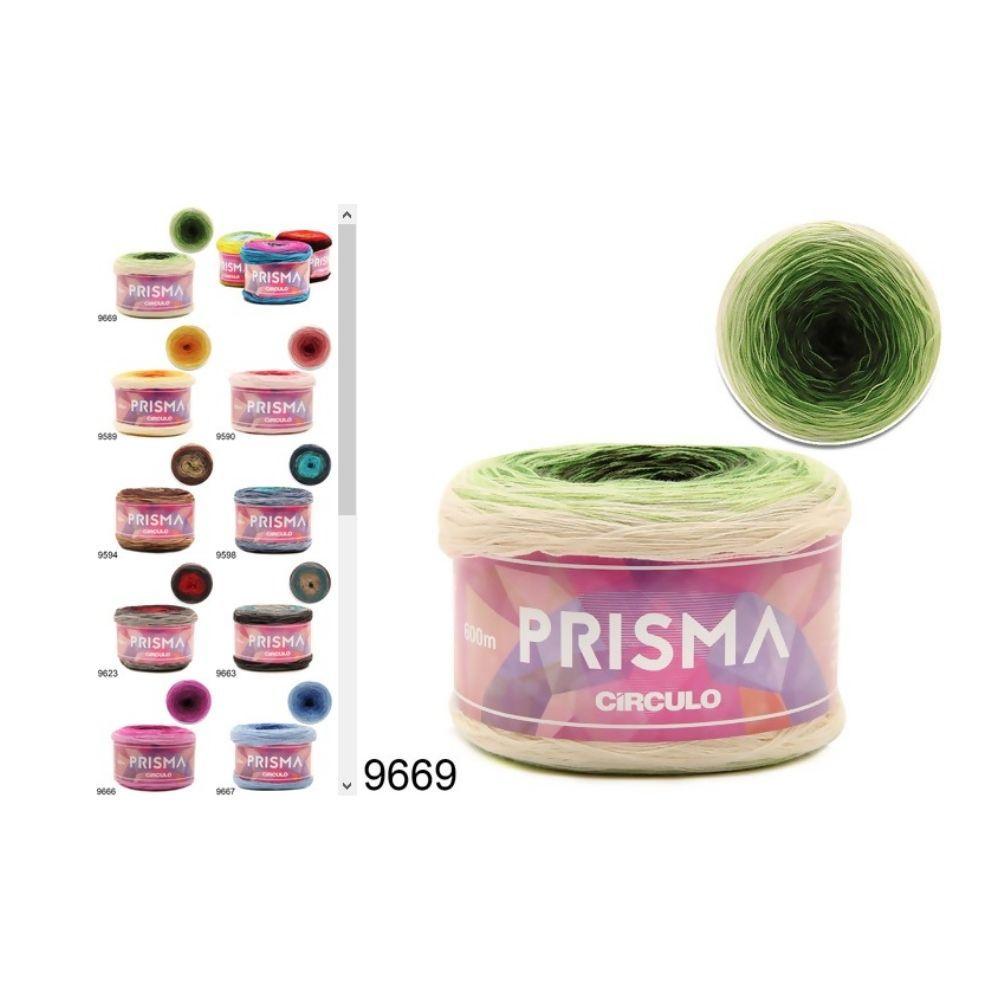 Xale de Tricô Fio Prisma Multicolor (Rosa / Azul / Branco)
