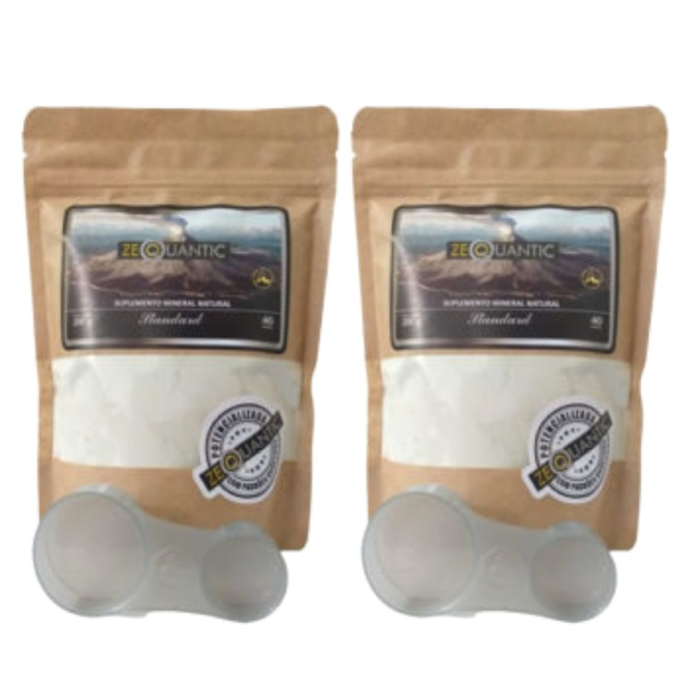Zeoquantic® Clinoptilolita Standard Potencializada em pó - 2 Pacotes de  250g   (Zeólita)