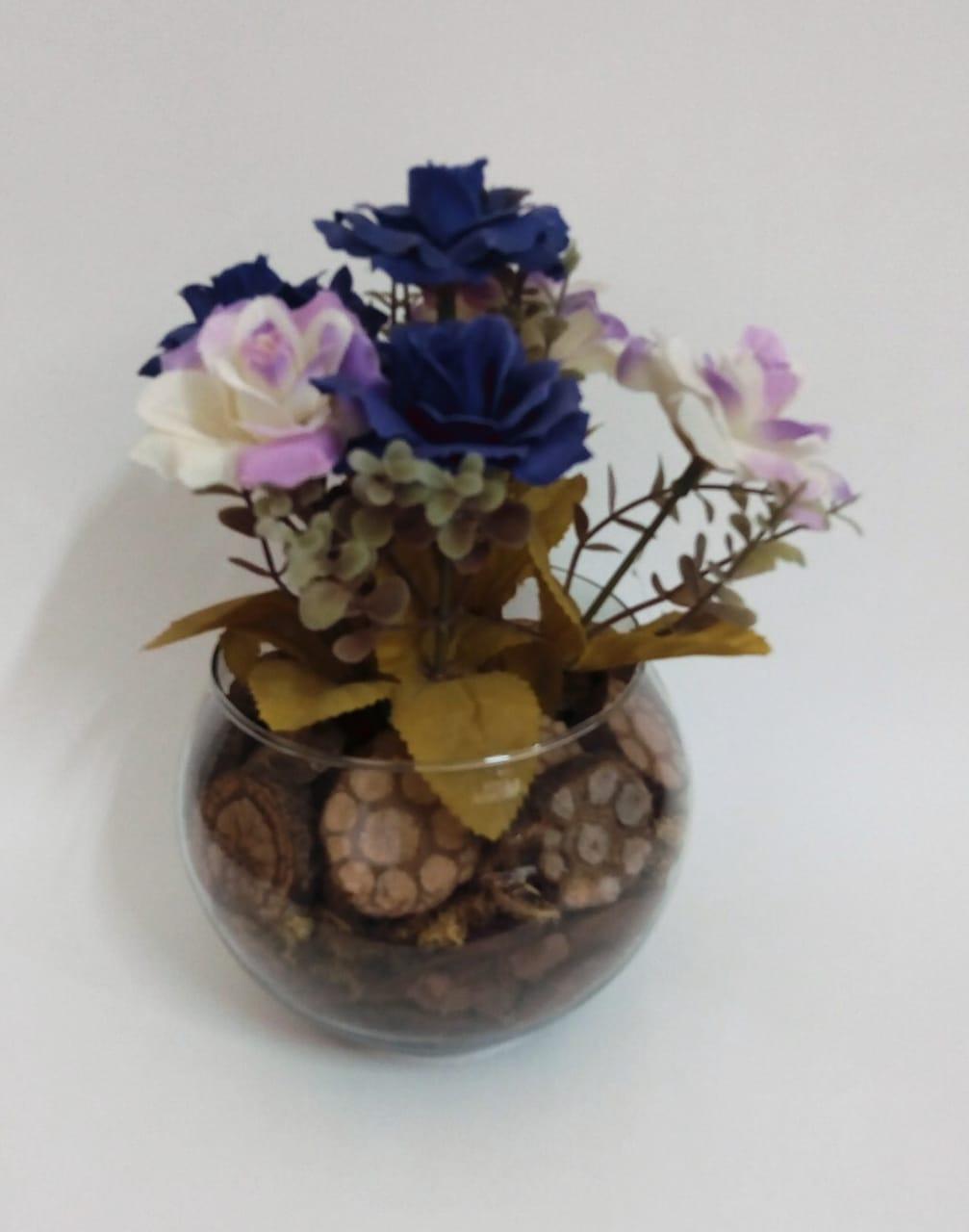 Vaso mini rosa do campo