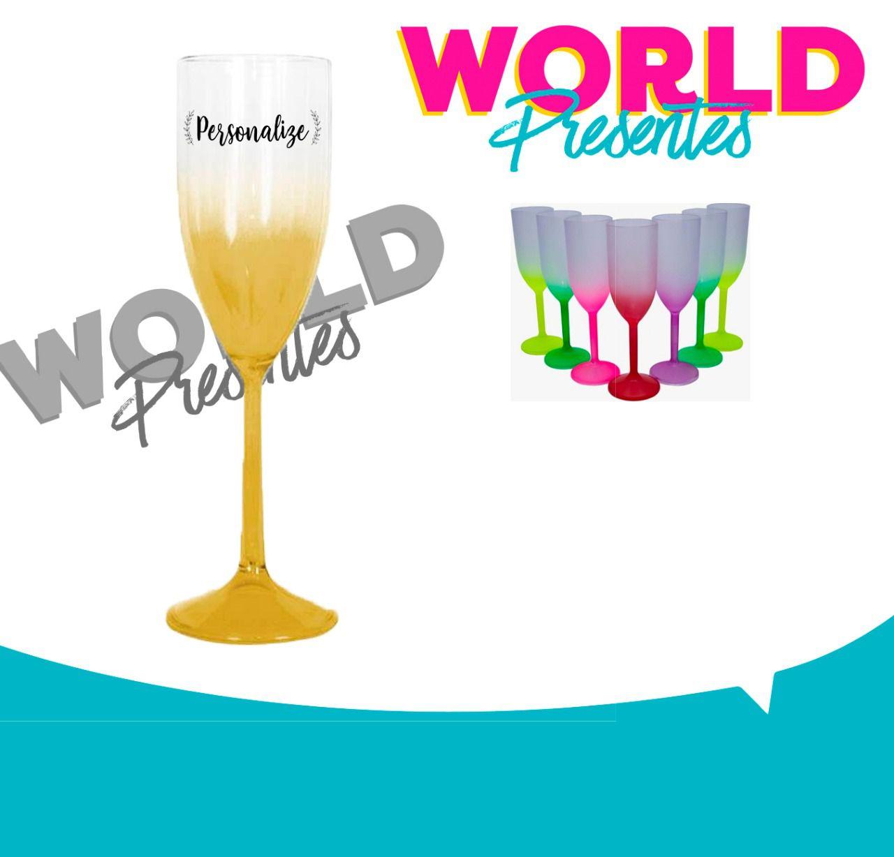 100 Taças de champanhe Degradê 160ml Personalizado
