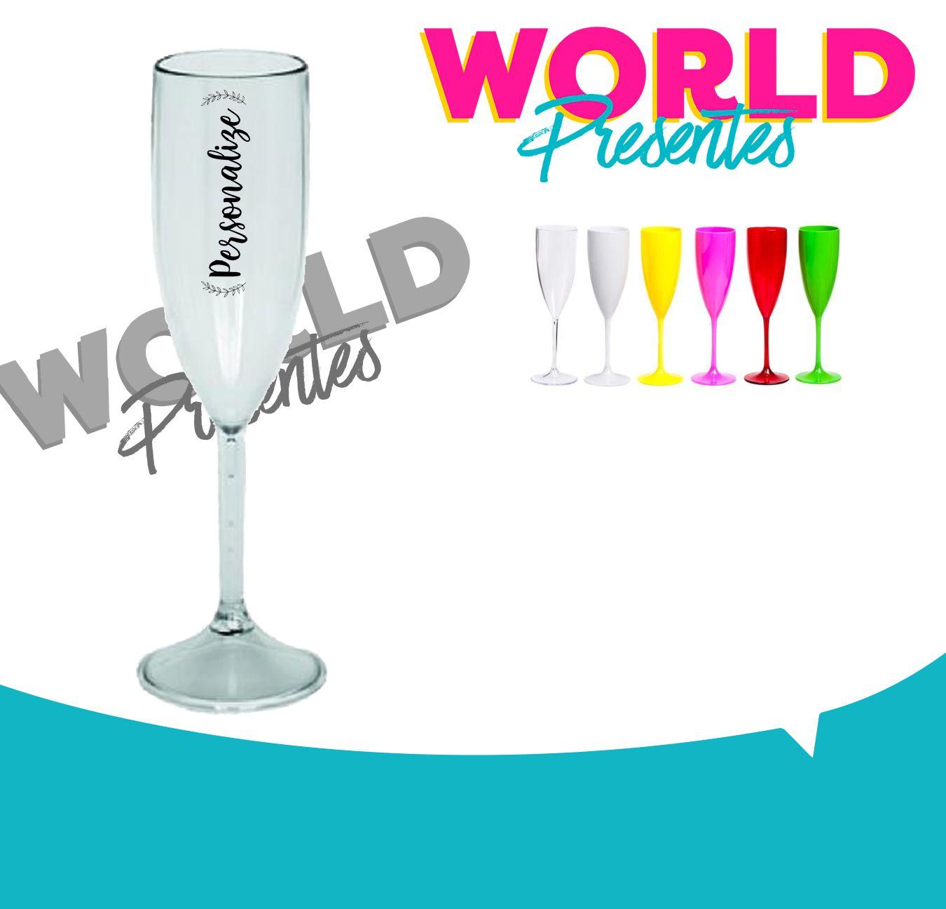 100 Taças de champanhe Transparente 160ml Personalizado