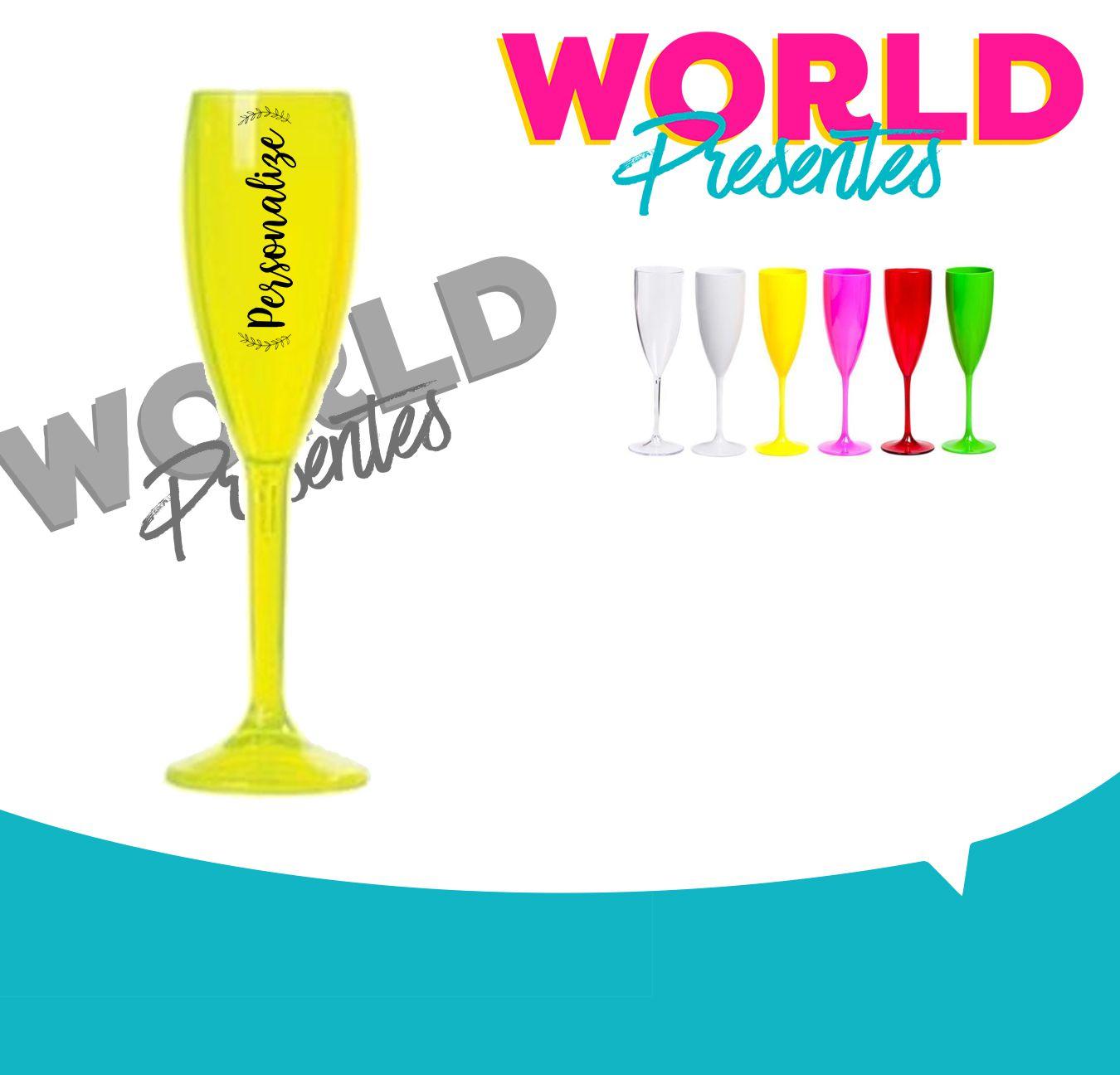 100 Taças de champanhe 160ml Personalizado