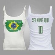 Camiseta Regata Feminina Bandeira do Brasil
