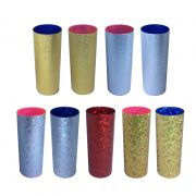 Copo Long Drink Metalizado Holográfico e Glitte (10 unidades)