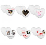 Kit Com 6 almofadas Personalizadas de Coração