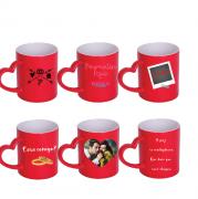 Kit Com 6 Canecas Personalizadas Mágicas Com Alça/ Coração