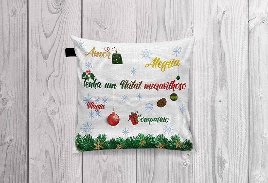 Almofada linha Natal lindo