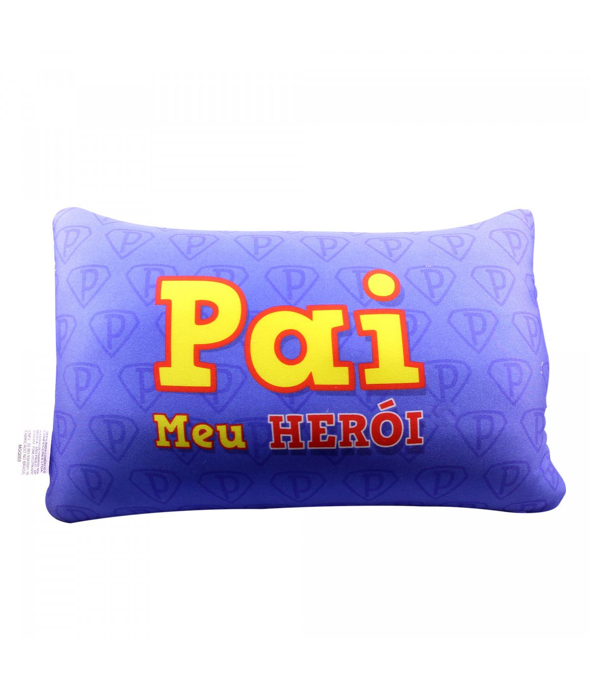 Almofada Retangular Azul Pai Meu Herói Zona Criativa