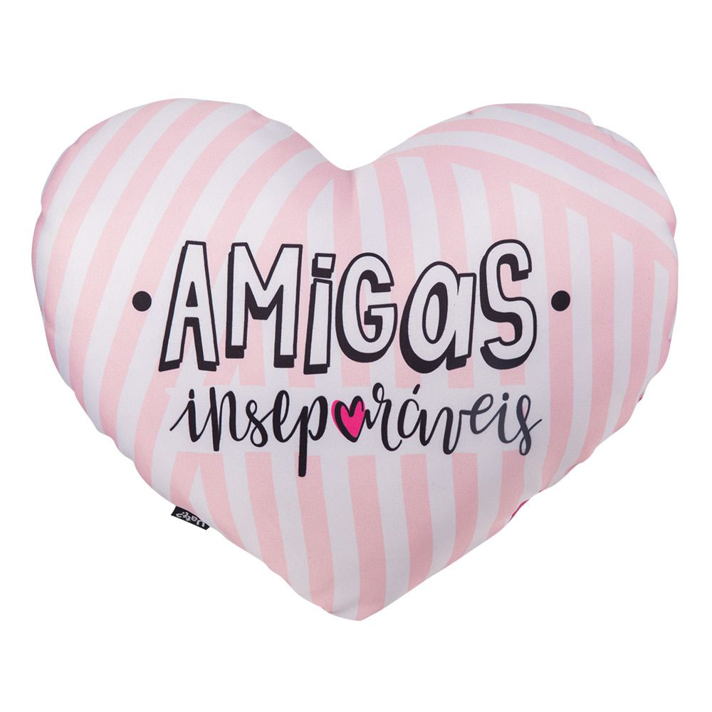 ALMOFADA SHAPE BILHETES - AMIGAS INSEPARAVEIS