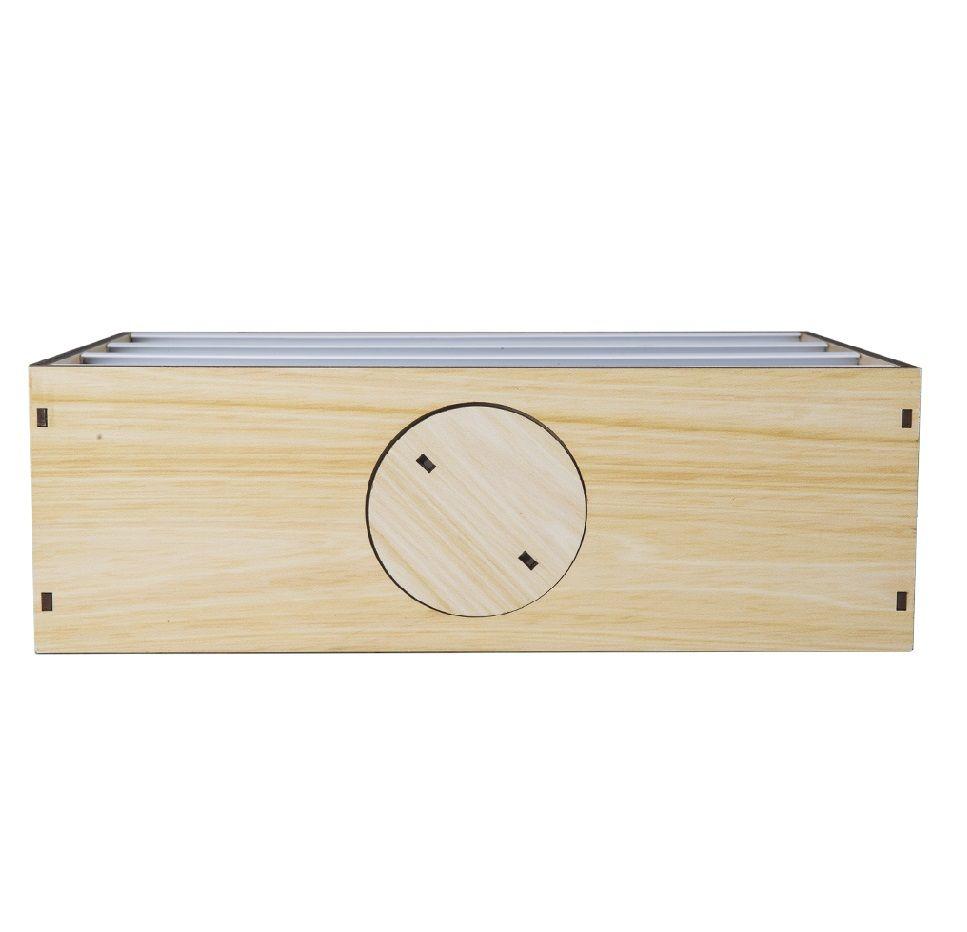 Caixa de Luz Madeira Letreiro Pinus Uatt