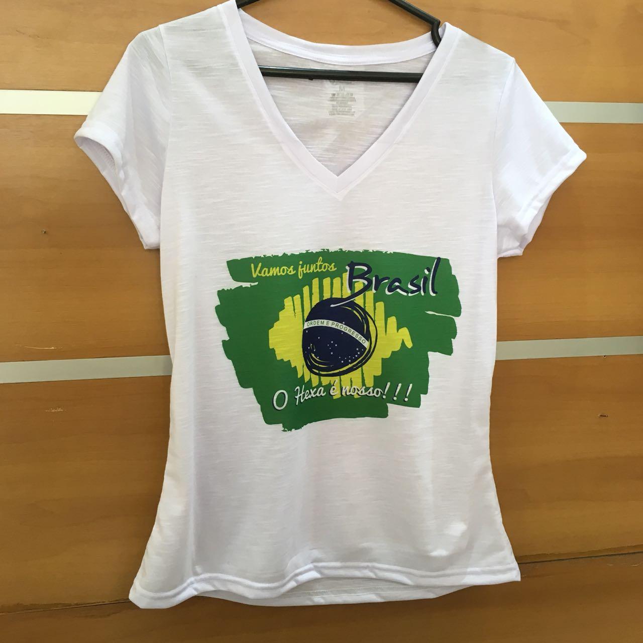Camiseta Flamê Feminina - Brasil Rumo Ao Hexa