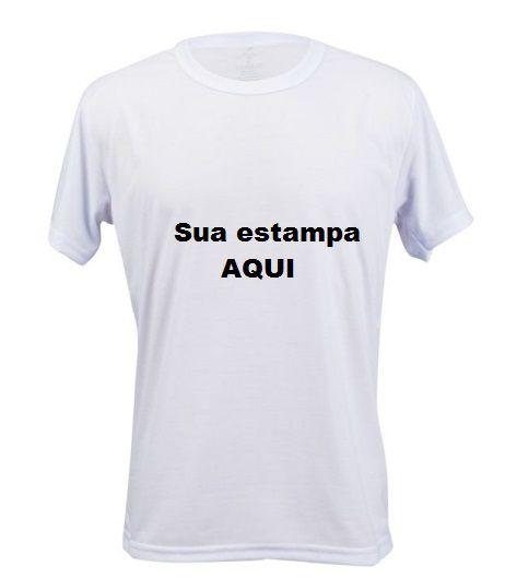 Camiseta Personalizada Estampa Frente e Costas