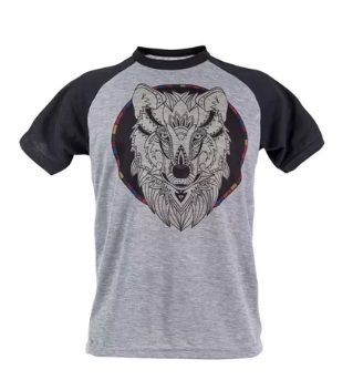 Camiseta Personalizada - kit com 3 Camisetas Raglan Poliéster Mescla