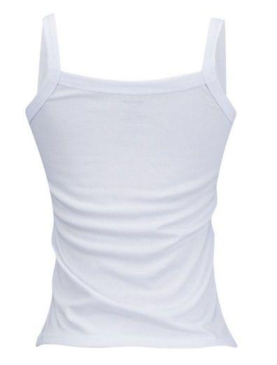 Camiseta Personalizada Regata Feminina Fem Poliester Branca