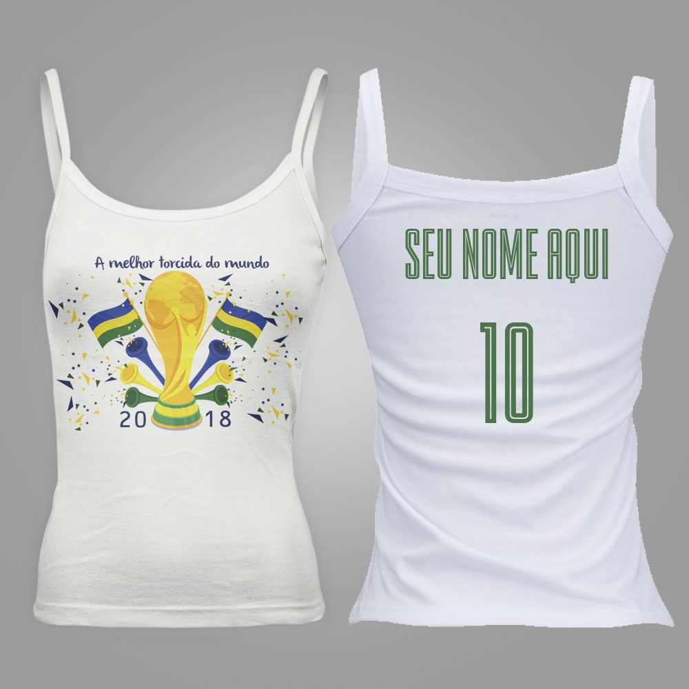 Camiseta Regata Feminina Taça do Mundo