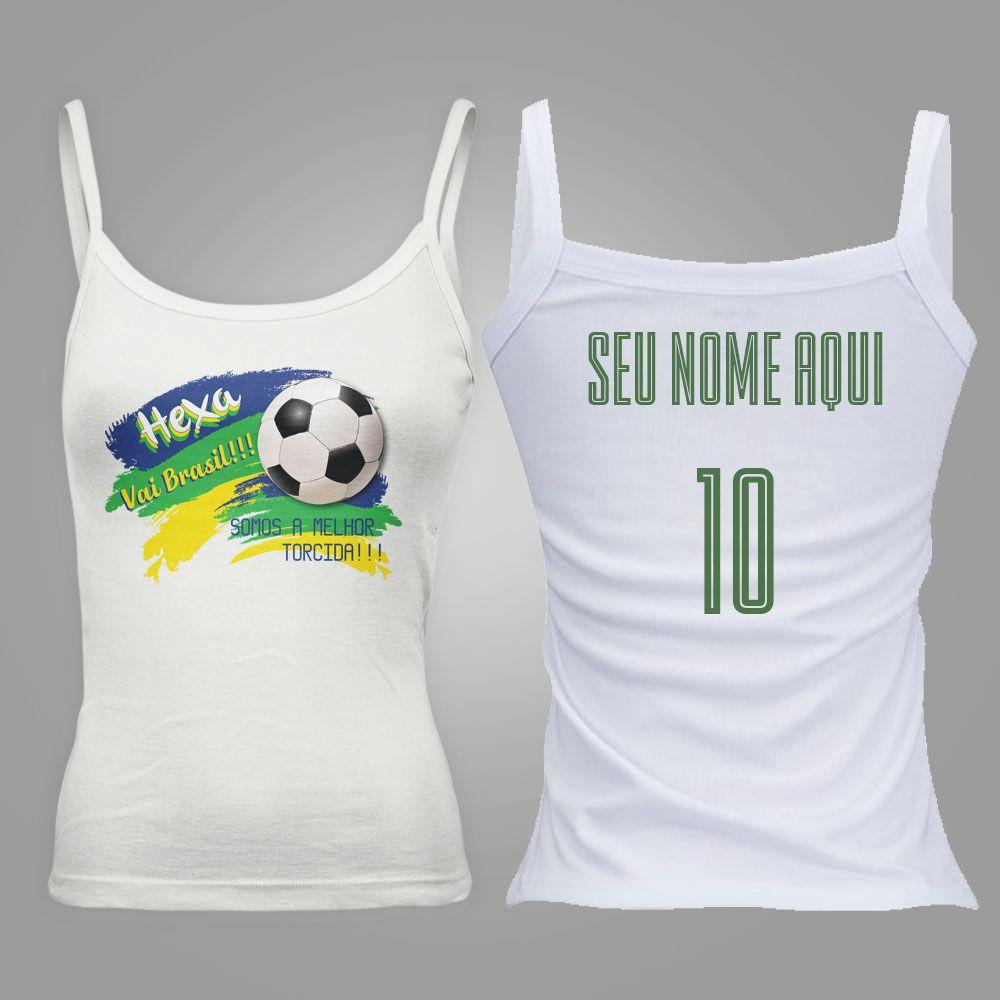 Camiseta Regata Feminina Taça do Mundo Rumo ao Hexa