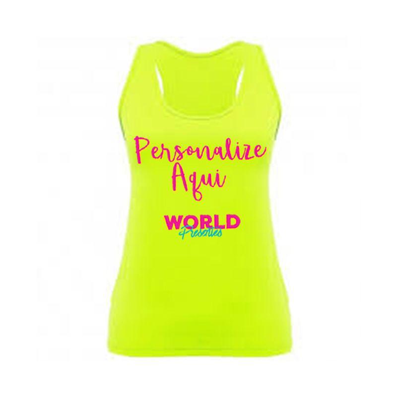 Camiseta Personalizada Regata Amarela Limão Neon