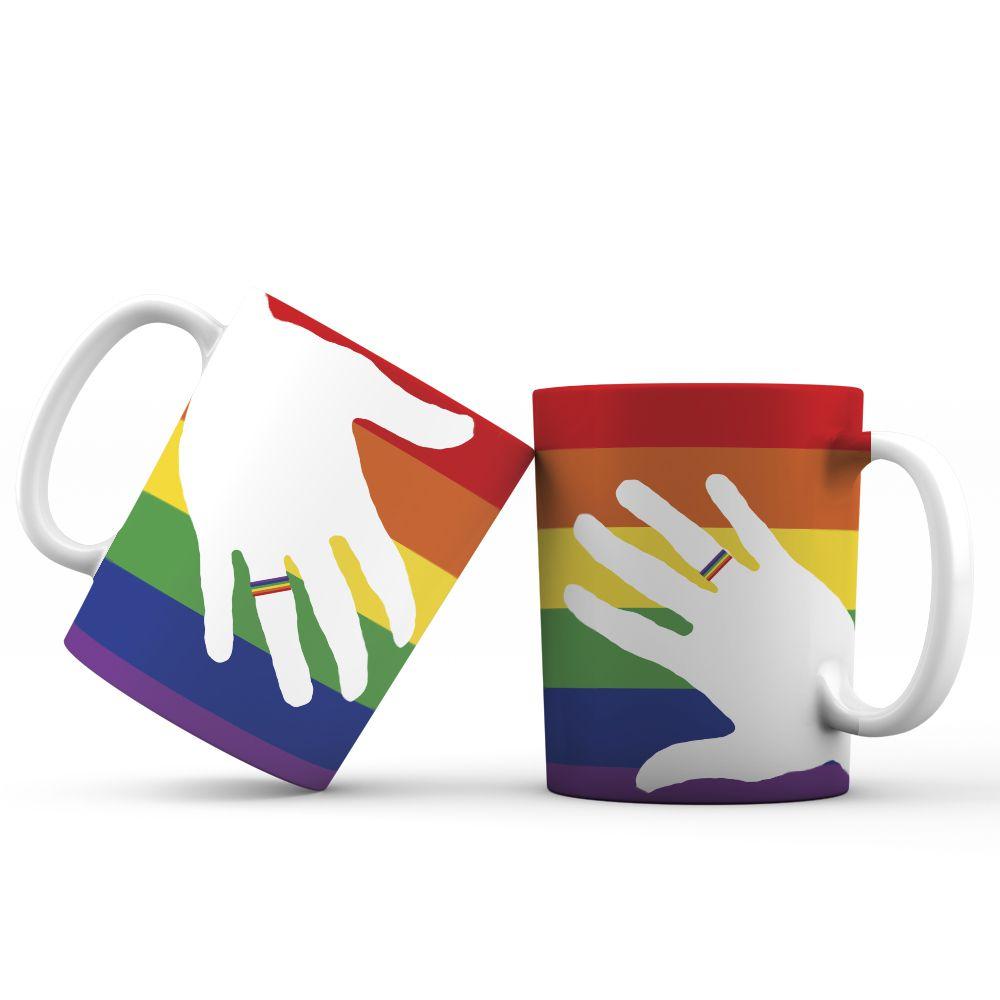 Caneca ''arco iris'' linha ''mais sexo''