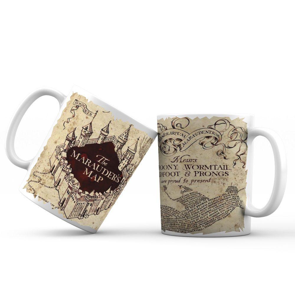 Caneca Mapa do Maroto Linha Harry Potter