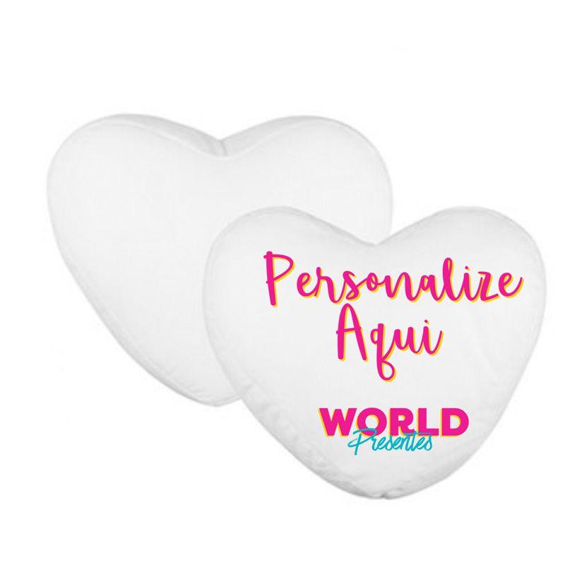 Capa Personalizada Almofada Coração