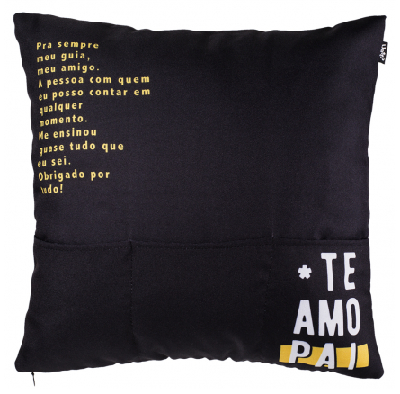 CAPA DE ALMOFADA - TE AMO PAI