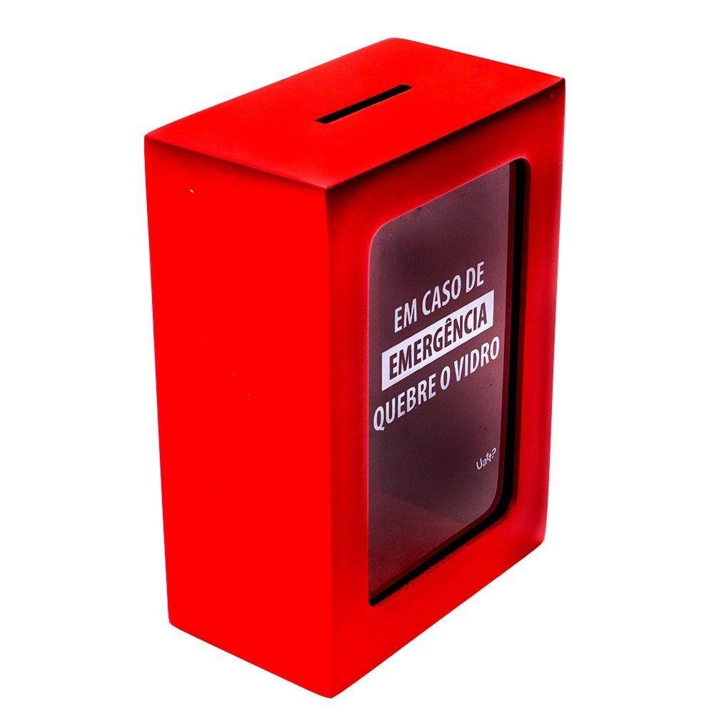 Cofre Emergência Em caso de emergência quebre o vidro Uatt