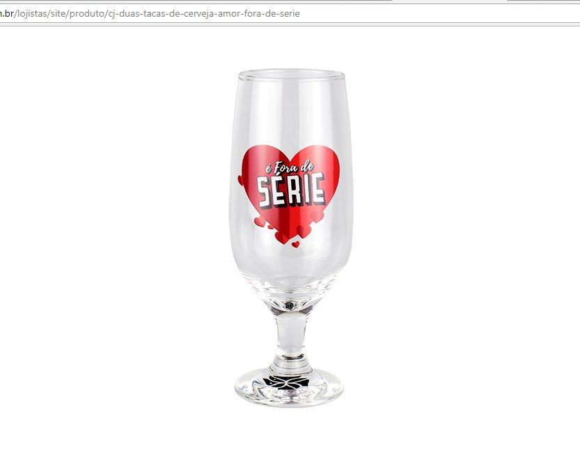 Conjunto Duas Taças de Cerveja Amor Fora de Série Kathavento
