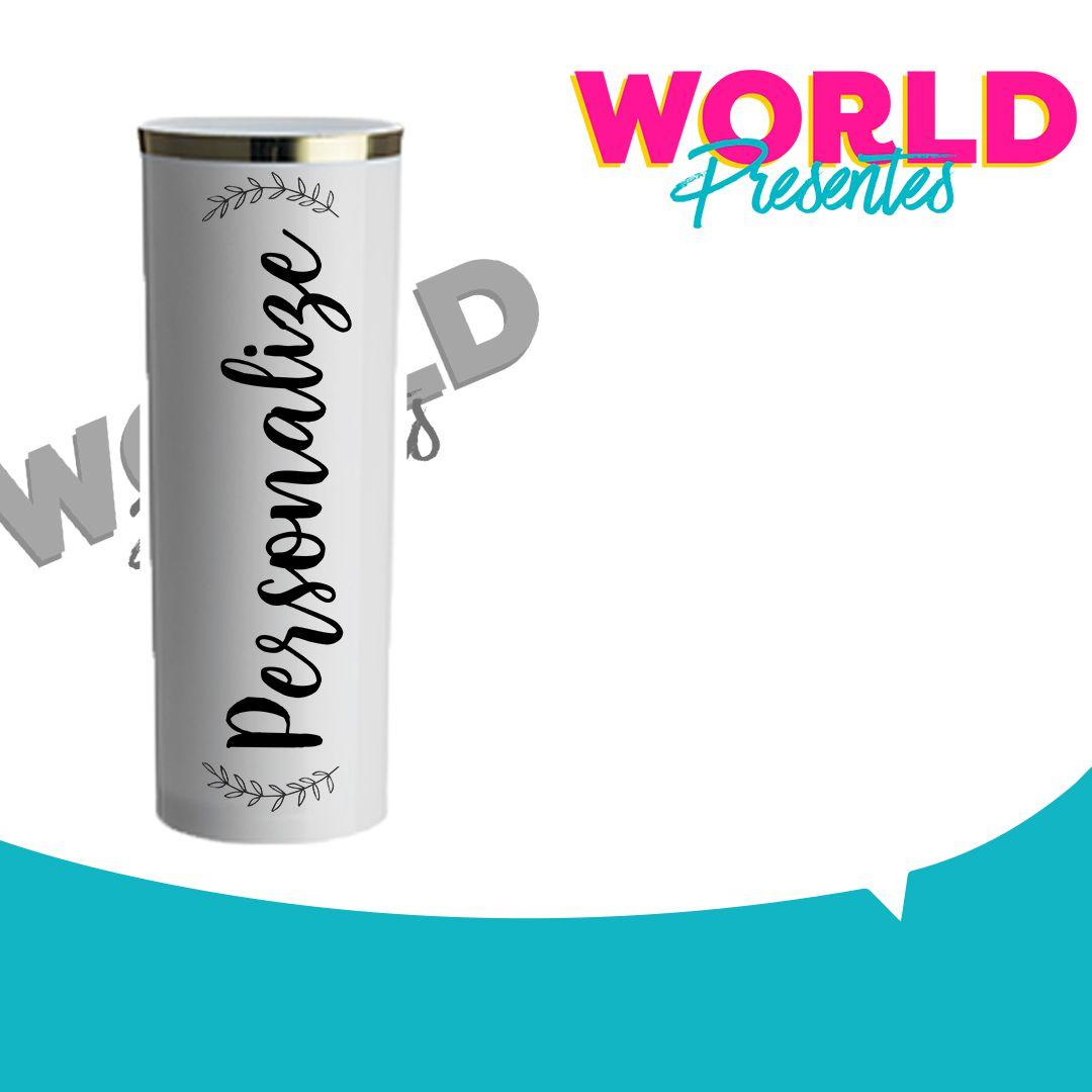 100 Copos Long Drink Golden Branco 330ml Personalizado