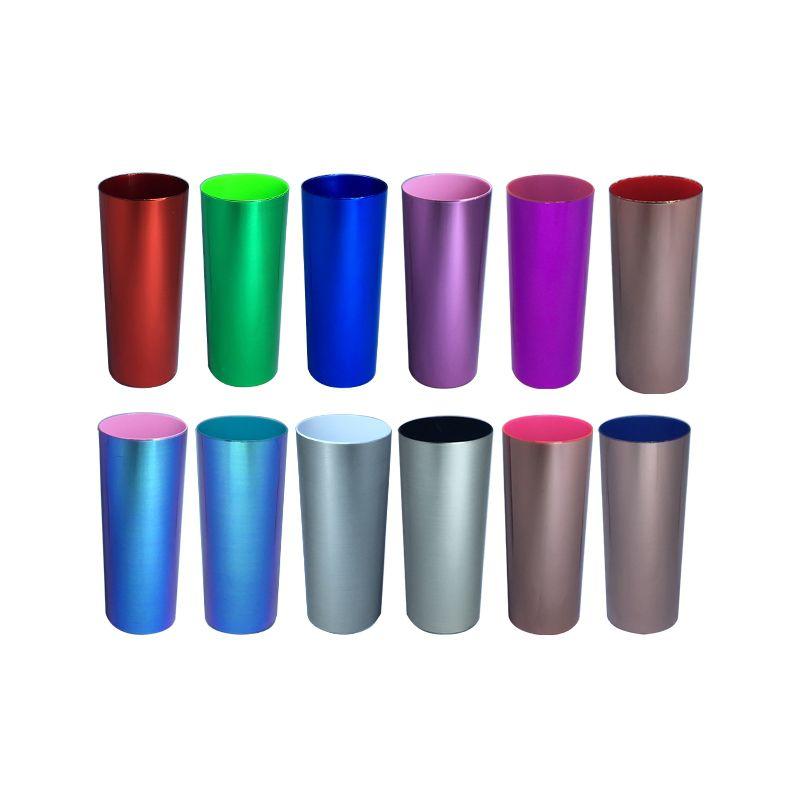 Copo Long Drink Metalizado Colorido  (10 unidades)
