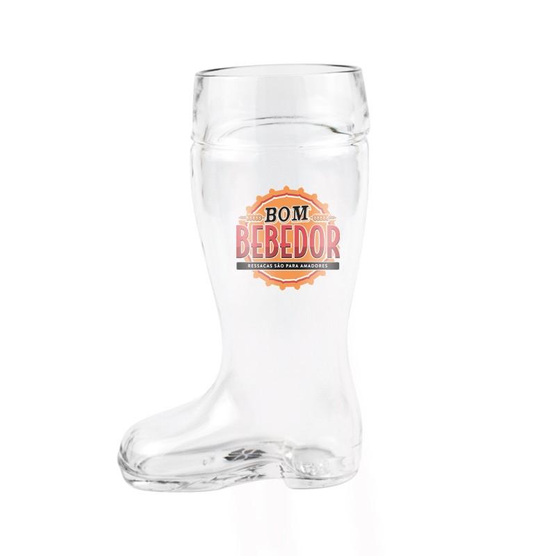 Copo Para Cerveja Formato Bota Bom Bebedor - 500ML Kathavento