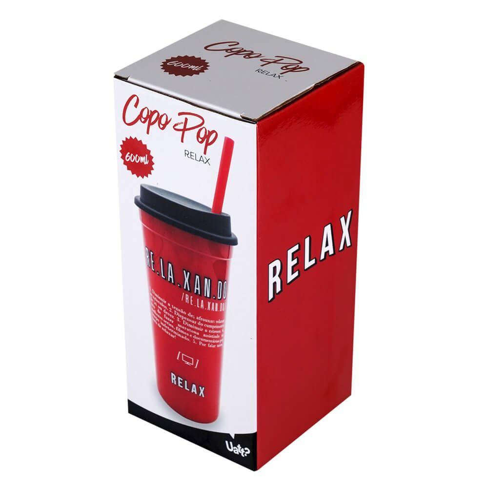Copo Pop Com Canudo 600ml Relax Uatt