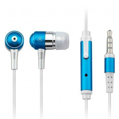Fone de Ouvido Auricular com Microfone Azul