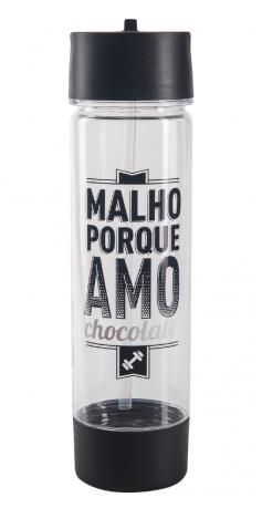 Garrafa Com Pote - Amo Chocolate UATT