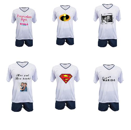 kit Com 6 Pijamas Personalizados Masc