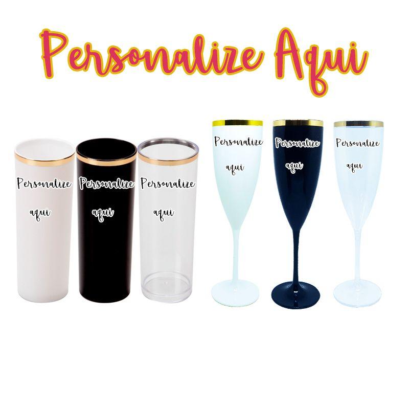 Linha Golden copos long drink e taças  (10 unidades)