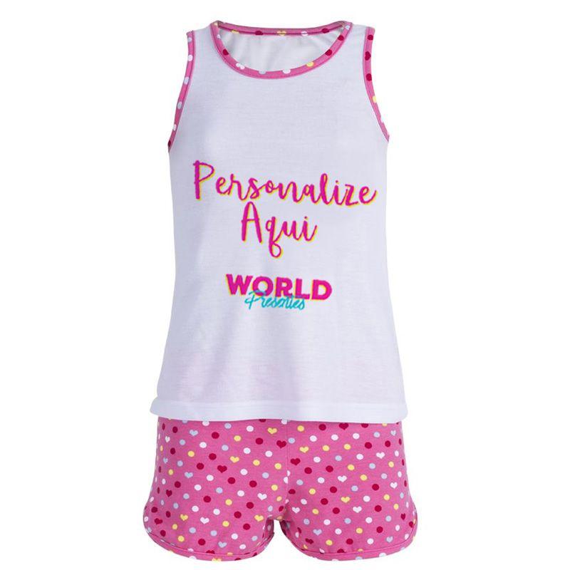 c1741596b Pijama Personalizado Infantil Feminino - World Presentes