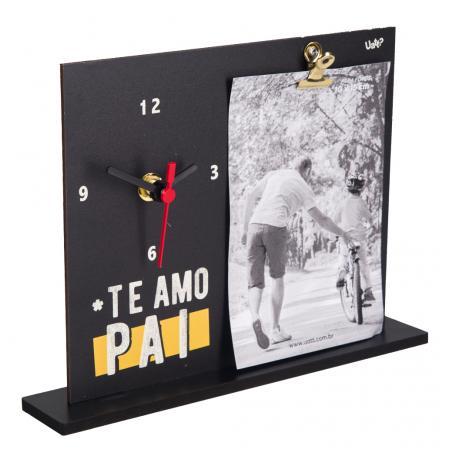 Porta Retrato Com Relógio - Te Amo Pai UATT