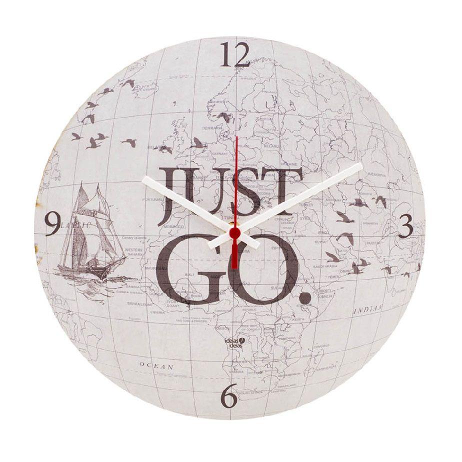 Relógio de Parede MDF 30x30 Just Go Ideias Ideias